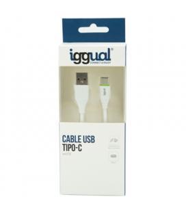 iggual cable USB-A/USB-C 100 cm blanco