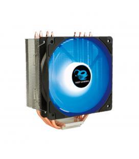 Ventilador disipador coolbox deep cyclone ii gaming. para intel y amd led azul