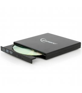 Lector - grabadora - regrabadora gembird cd - dvd externo - slim - usb 2.0 - 480 mbps - 24x cd - 8x dvd - negro - Imagen