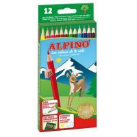 Estuche 12 unidades lapices de colores alpino