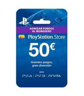 Tarjeta prepago monedero sony playstation live card 50 euros ps4 - ps3 - psp - psvita