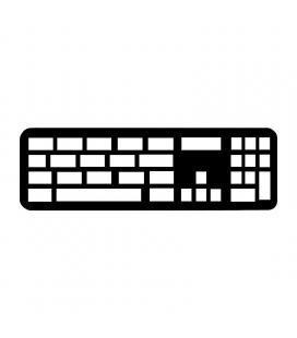 Teclado inalámbrico apple magic keyboard/ con teclado numérico/ plata - Imagen 1