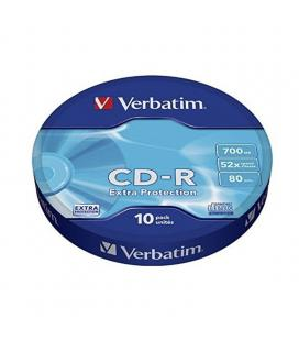 Cd-r verbatim datalife 52x/ tarrina-10uds