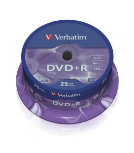 Dvd+r verbatim advanced azo 16x/ tarrina-25uds