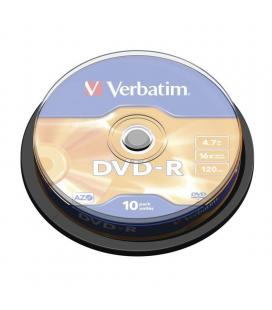 Dvd-r verbatim advanced azo 16x/ tarrina-10uds