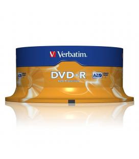 Dvd-r verbatim advanced azo 16x/ tarrina-25uds
