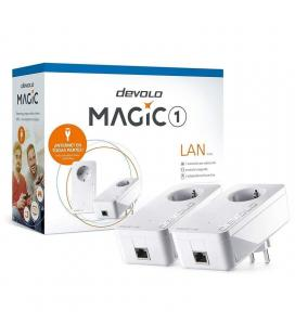 Adaptador powerline devolo magic 1 1200mbps/ alcance 400m/ pack de 2 - Imagen 1