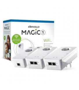 Adaptador powerline devolo magic 1 wifi 21-3 8373 1200mbps/ alcance 400m/ pack de 3 - Imagen 1