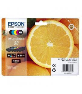 Cartucho de tinta original epson nº33 multipack/ negro/ cian/ amarillo/ magenta/ negro fotográfico - Imagen 1