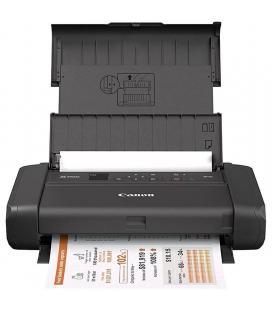 Impresora portátil canon pixma tr150 con batería/ wifi/ negra