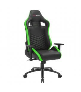 Silla gaming mars gaming mgcx neo/ verde y negra