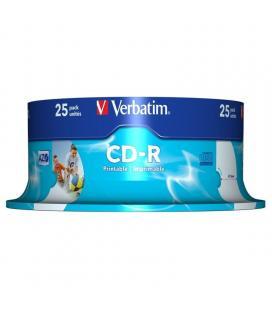 Cd-r verbatim azo imprimible 52x/ tarrina-25uds