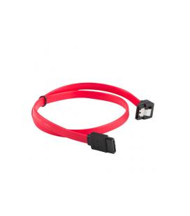 CABLE SATA III LANBERG 6GB/S HEMBRA HEMBRA ANGULO CLIP METAL 0.5M