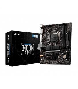 PLACA MSI B460M-A PRO INTEL B460 1200 2DDR4 HDMI PCIE3.0 M.2 SATA6 USB3.2 MATX