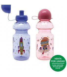 Botella infantil iris snackrico tritán 8003-p/ capacidad 350ml/ colores surtidos - Imagen 1