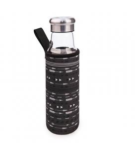Botella de cristal iris 8207-vfn/ capacidad 550ml/ negra flechas - Imagen 1