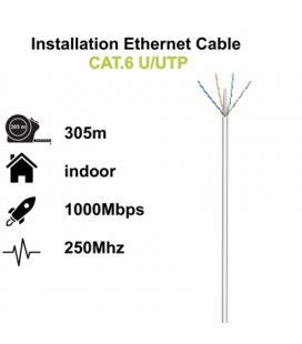 Ewent Bobina cable red Cat. 6 U/UTP, LSZH, 305mt