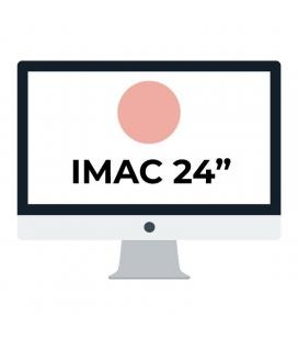 Apple imac 24' retina 4.5k/ chip m1 cpu 8 núcleos/ 8gb/ 256gb/ gpu 7 núcleos / rosa - Imagen 1