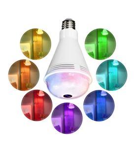 BOMBILLA LED RGB CON CAMARA WIFI XM FAMILY 2MPX VISION-360° ALTAVOZ-BT SENSOR-CREPUSCULAR