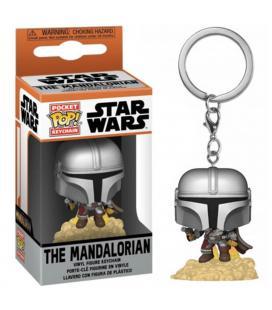 Funko pop keychain llavero star wars the mandalorian mando con pistola laser 53046 - Imagen 1