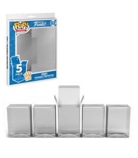 Caja protectora funko pop plegable pack 5 unidades plastico 53008 - Imagen 1