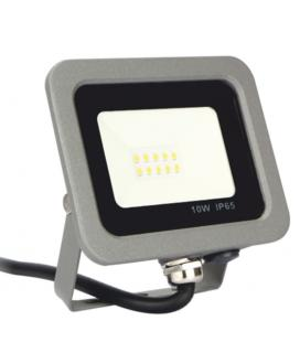 Foco led silver electronics forge+proyector ips 65 10w - 5700k luz fria - 800lm color gris - Imagen 1