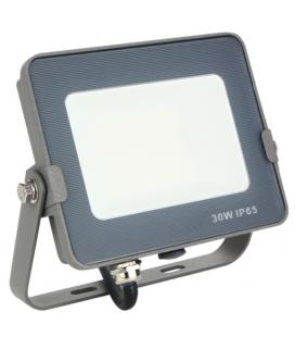Foco led silver electronics forge+proyector ips 65 30w - 5700k luz fria - 2400lm color gris - Imagen 1