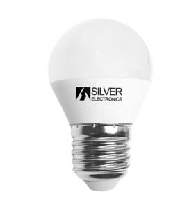 Bombilla led decorativa silver electronics esferica 6w=65w - e27 - 3000k - 520 lm - luz calida - a+