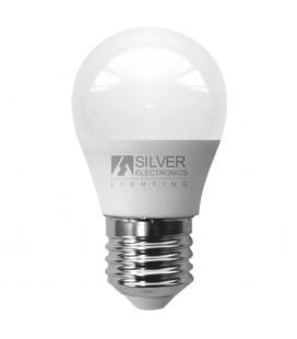 Bombilla led silver electronic eco esferica 5w=35w - e27 - 3000k - 399 lm - 180º - luz calida - a+