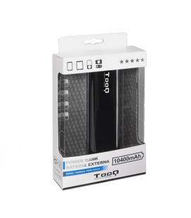 Tooq Batería Externa 10400MAH LUZ 2USB 5V/1A+5V/2,1A Negro