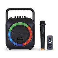 Altavoz portátil fonestar box-35led con reproductor bt/sd y micrófono inalámbrico - 35w rms - función karaoke - efectos