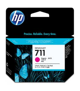 HP 711 3-pack 29-ml Magenta Ink Cartridges CZ135A