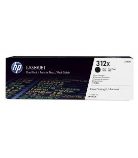 HP 312X 2-pack High Yield Black Original LaserJet Toner Cartridges Cartucho 4400páginas Negro
