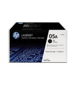 2 PACK TONER HP 05A LASERJET NEGRO (CE505D)