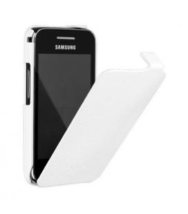 Funda con tapa ETUISMS5830B blanca para Samsung S5830