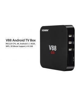SCISHION V88 Android TV Box  - RK3229 CPU, 4K, Android 5.1,  KODI,  WIFI,  3D Movie Support, 4 X USB, SD Card Slot - Imagen 1