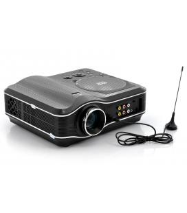DVD Projector with DVD Player Built In - DVD Player Projector Combo, LED, 800x600, 30 Lumens, 100:1 Contrast - Imagen 1