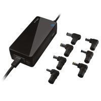 Cargador de corriente universal trust negro primo 90w 7 conectores