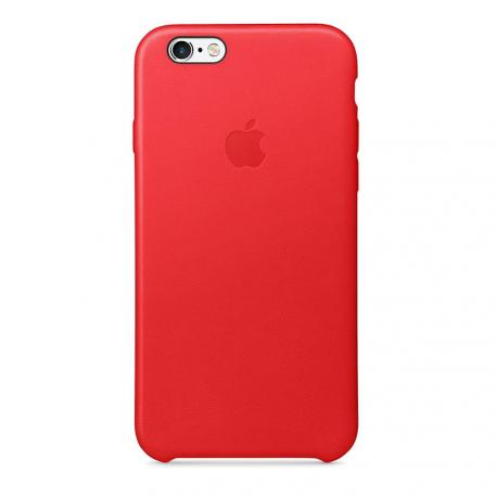 IPHONE 6S LEATHER CASE ROJO - Imagen 1