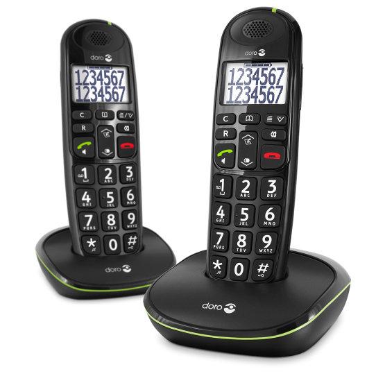 Doro Easy 110 Duo Teléfono DECT Negro
