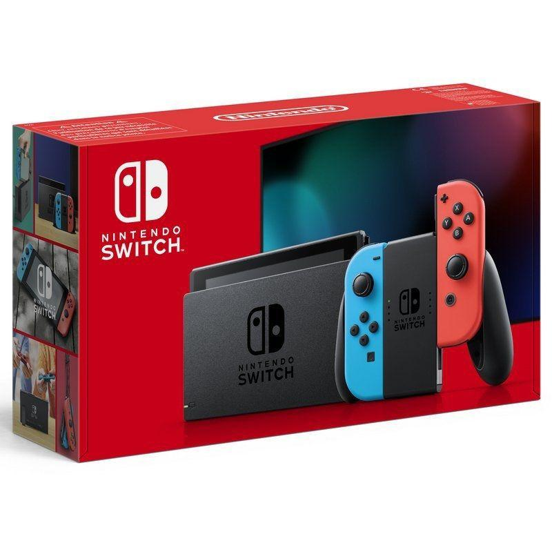 Nintendo Switch - Consola Estándar, Color Azul Neón/Rojo Neón Version nueva