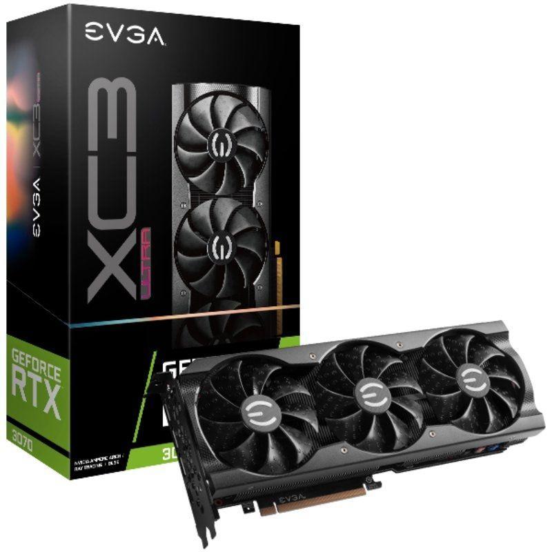 Tarjeta Gráfica EVGA GeForce RTX 3070 XC3 ULTRA GAMING/ 8GB GDDR6